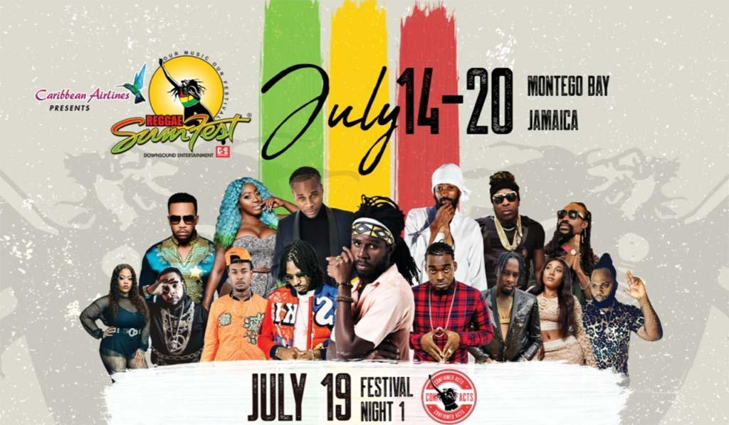 Регги-фестиваль Sumfest в Монтего-Бей