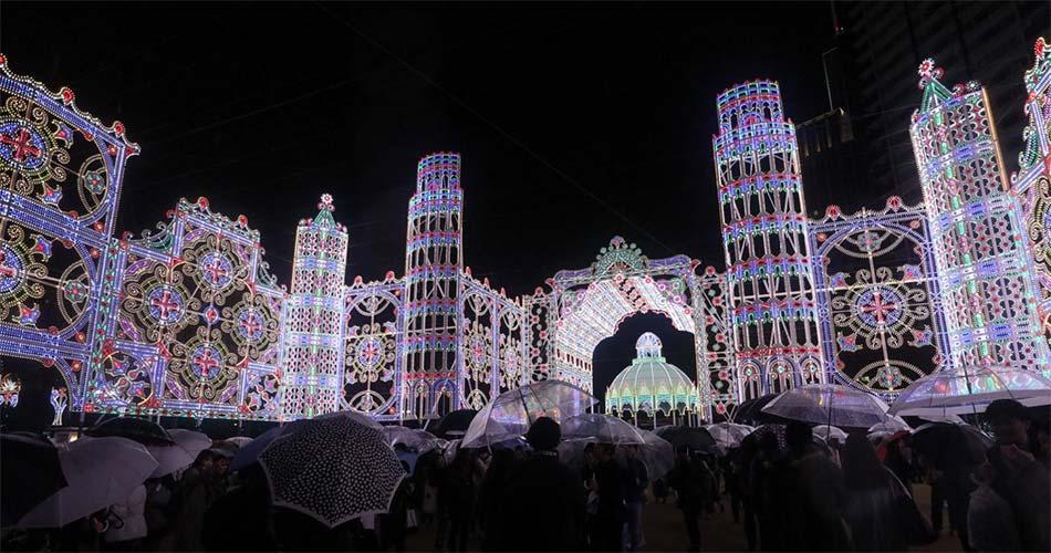Фестиваль света Люминари в Кобе