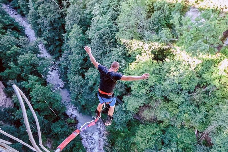 Прыжки с тарзанки в Сен-Жерве