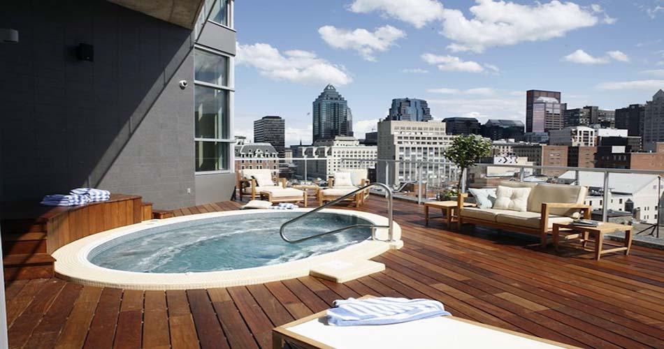 Элегантный отель с видом на Монреаль - Le Crystal
