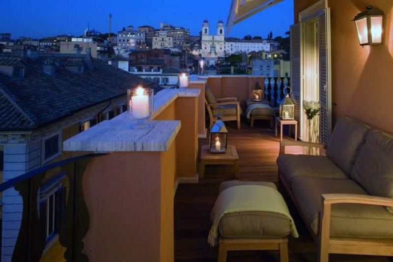 Один из самых красивых бутик отелей Рима - Portrait Roma