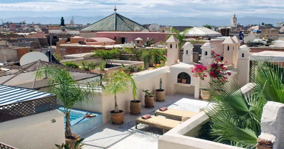 Статусный отель с видом на Марракеш - Riad Vert