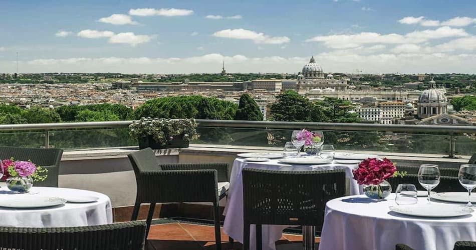 Высококлассный комплекс с наипрекраснейшим пейзажем- Sofitel Rome Villa Borghese