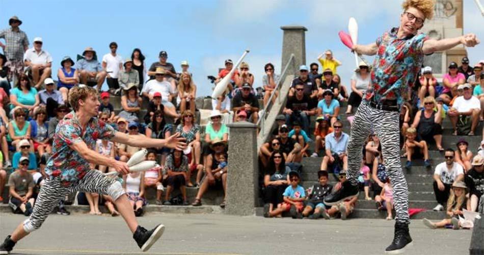 Всемирный фестиваль уличных актеров в Крайстчерче
