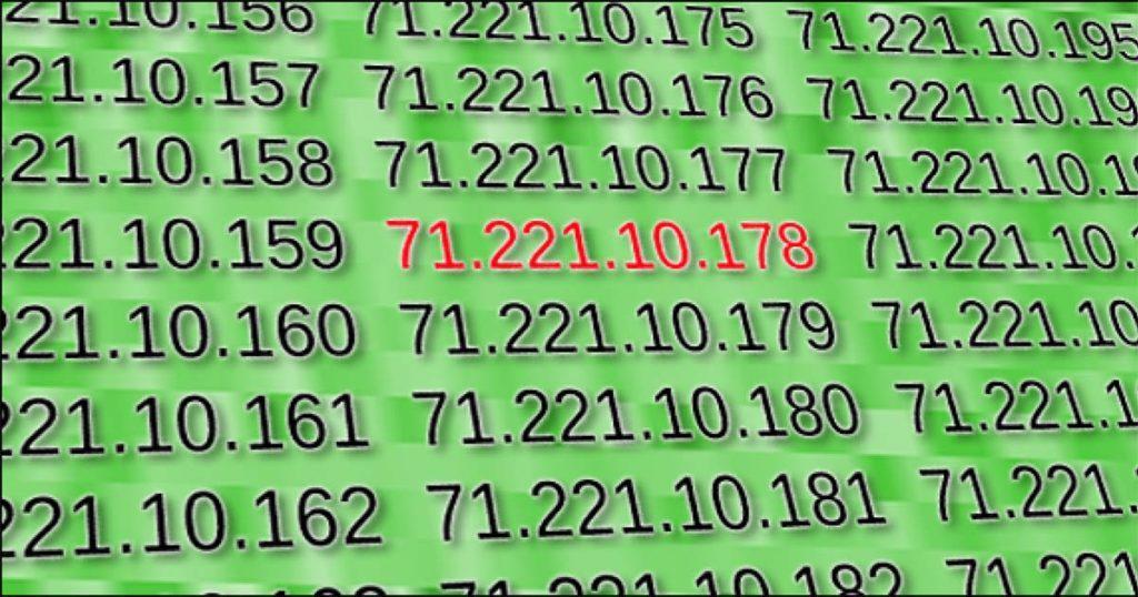 Изменение при поиске IP-адреса пользователя