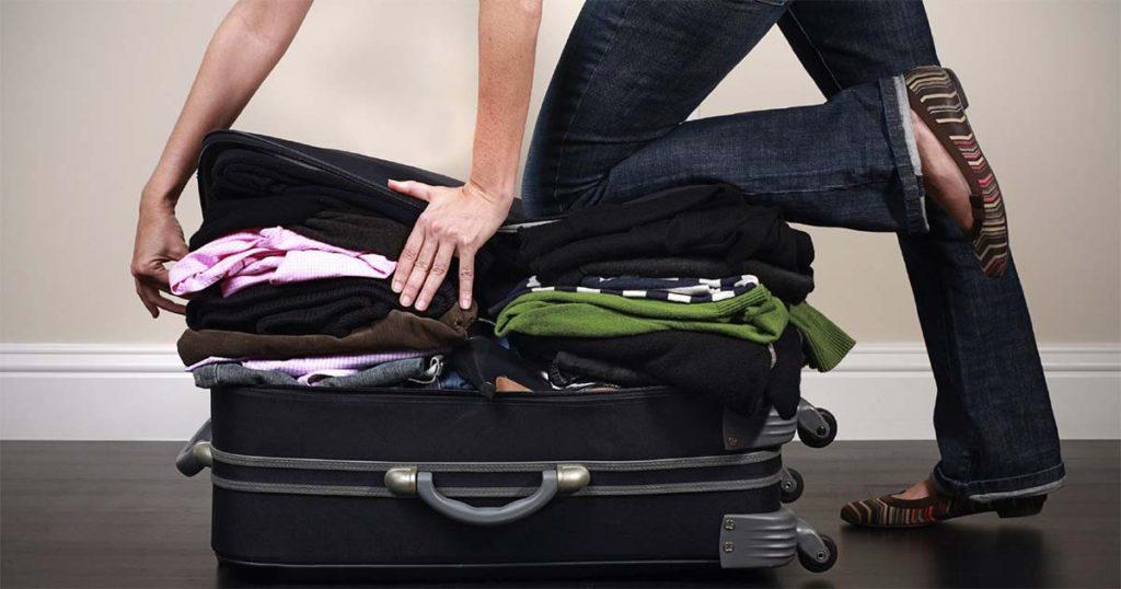 собрать вещи на рейс