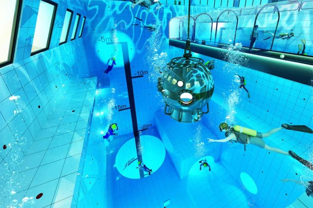 Открытие самого глубокого бассейна в мире