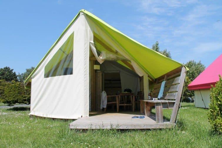 необычные отели в Нормандии во Франции ecolodge-junior