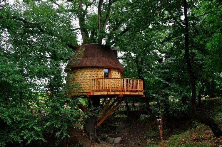 отель из хижин на деревьях Les Robinsonades, Юг-Пиренеи