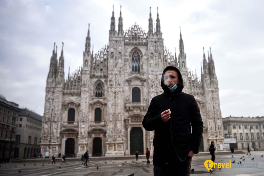 Курение запрещено в некоторых общественных местах Милана